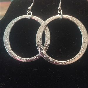 Silver hoop earrings with your detail